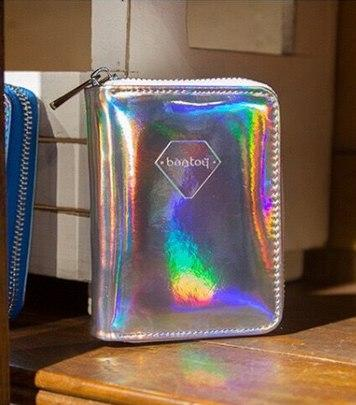 PU Leather Women's Wallet Hologram Laser Money Bags Zip Clutch Purse IDintothea-intothea