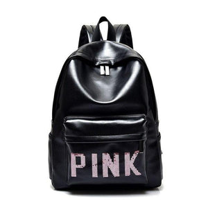 New fashion black Women bag backpacks for teenage girls waterproof nylon colleageintothea-intothea