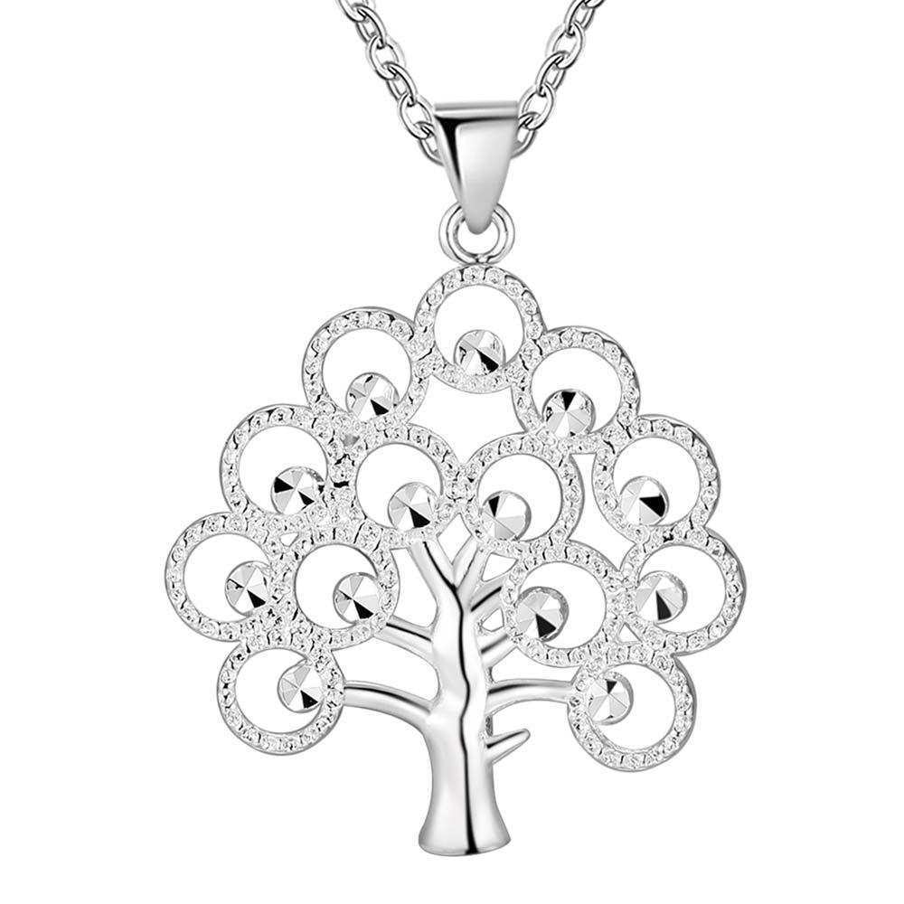 Stamped 925 hot sale tree silver plated jewelry charm cute Womenintothea-intothea