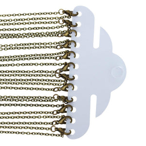 8SEASONS Jewelry Necklace Antique Bronze Cable Chains Lead and Nickel Safe Lobsterintothea-intothea