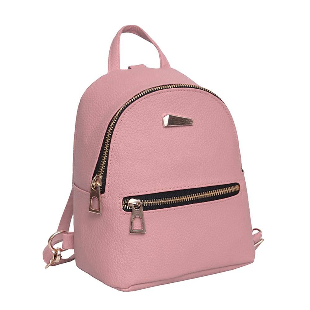 Fashion Women Mini Backpack PU Leather College Shoulder Satchel School Rucksack Ladiesintothea-intothea