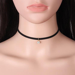2018 New Fashion Black Sexy Lace Velvet Women Choker Necklace Bijoux Multiintothea-intothea