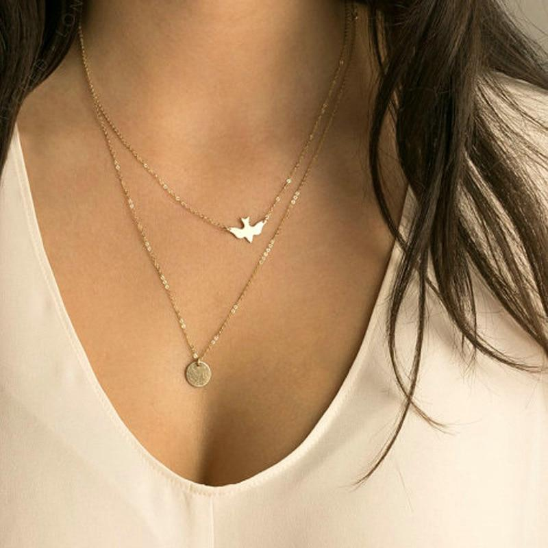 2017 New Peace Dove Soar Flying 2 Layers Crystal Sequins Chain pigeonintothea-intothea