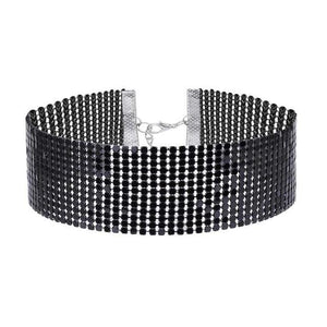 New Women Bling Bling Width 3.5cm Collar Necklace Choker Necklaces Wedding Birthdayintothea-intothea