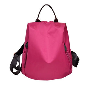 Anti-theft Women Backpack Waterproof Nylon Solid Female Shoulders Bag Fashion Contractedintothea-intothea