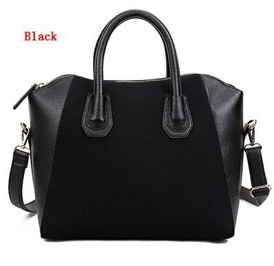 New Arrive Fashion Bags 2018 Patchwork Nubuck Leather Women's Handbag Smiley Shoulderintothea-intothea