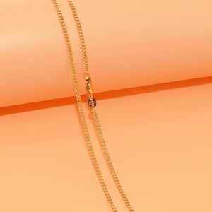 16-30 Hot Sale Popular Nice Flat Curb Chains Necklace With Lobster Claspsintothea-intothea