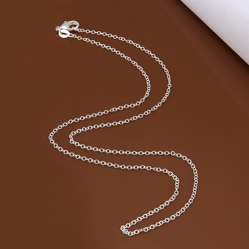 Big Promotion! wholesale 925 stamped silver plated necklace, silver fashion jewelry Rolointothea-intothea