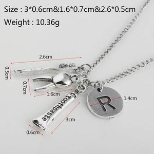 RJ New Creative Conical Flask Chemical Molecular DNA Microscope Pendant Necklace Chemicalintothea-intothea