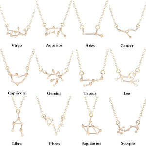 Star Zodiac Sign 12 Constellation Necklaces & Pendants Choker Necklaces forintothea-intothea