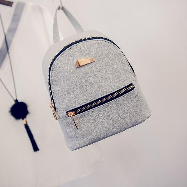 Women Backpacks Bags Leather Backpack Small Backpack Korean Wave Fashion Bag Leisureintothea-intothea