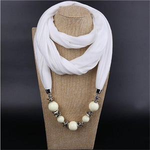 Fashion Ethnic Polyester Solid Collar Tassel Gorgeous beads pendants jewelry Necklace Jewelryintothea-intothea