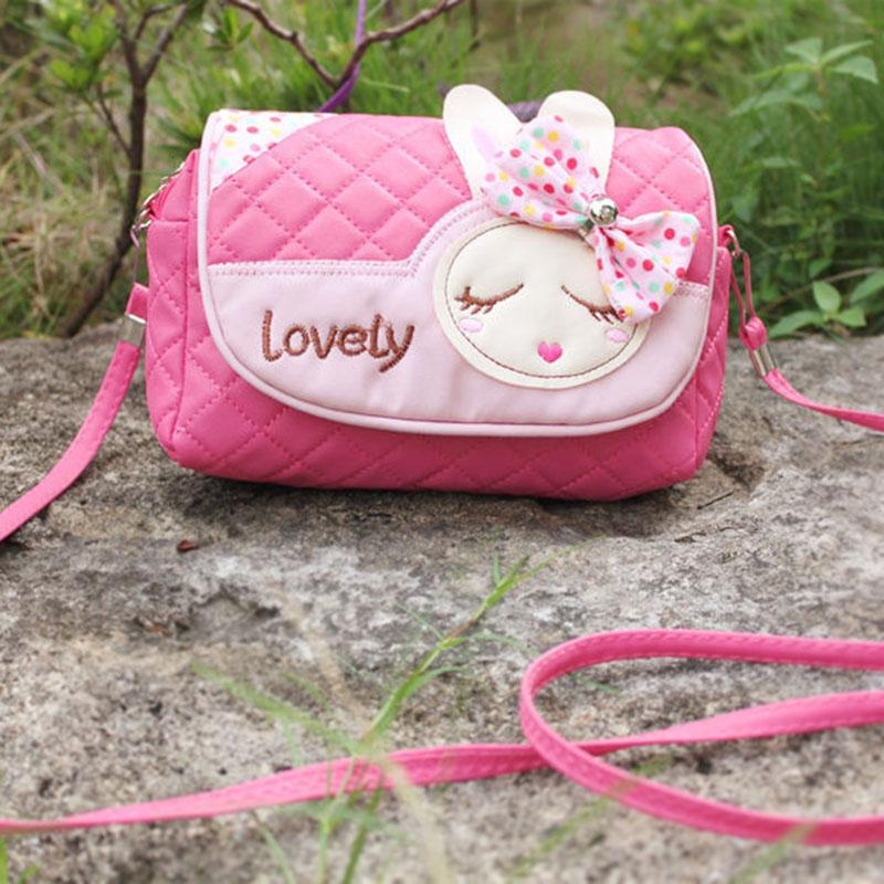 2018 Children Messenger Bag Rabbit Bowknot Kids Girls Princess Sweet Handbag Leatherintothea-intothea