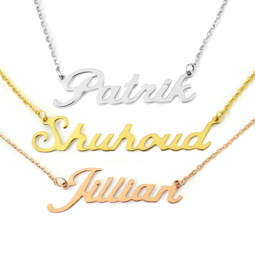 Custom Name Necklace Personalized Name Necklace Customized Your Name Jewelry Gift forintothea-intothea