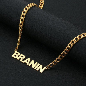 Fashion Stainless Steel Letter Pendant & Necklace Custom Initial Alphabet Gold Colorintothea-intothea