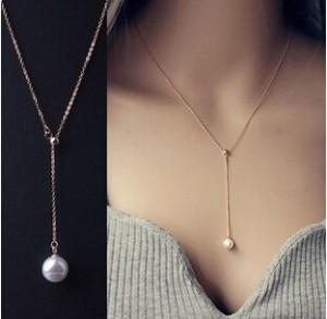 2018 New Arrivals Hot Fashion Bijoux Can Be Adjusted Chain Simulated Pearlintothea-intothea