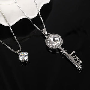 Natural Stone Cat Eye CZ Necklace Gold Silver Plated Chain Pendant Necklacesintothea-intothea