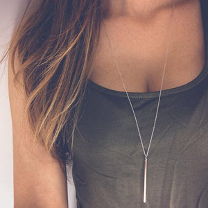 x223 Fashion Jewely Long Tassel Chain Necklace Gold Colo Geometry Pendant Necklaceintothea-intothea