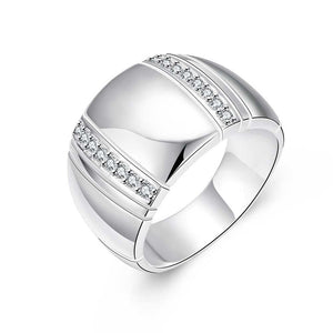 925 Sterling Silver Woman/ Man Lover's Ring CZ Crystal Wedding Engagementintothea-intothea