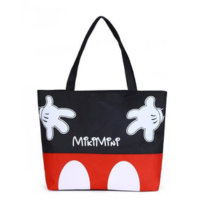 Fashion Women Handbags Cartoon Mickey Canvas Girls Casual Shoulder Bag Girl Shoppingintothea-intothea