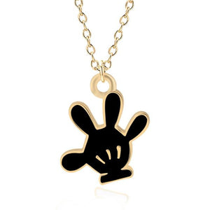 DIY Trendy Hand Pendant Cartoon Mickey Glove Necklace Gold Chain Necklaces&Pendants Forintothea-intothea