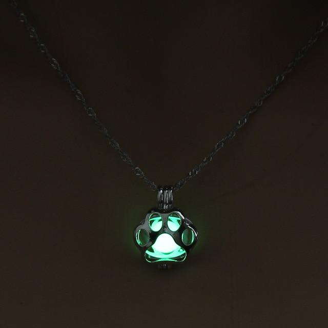 Glow In The Dark Necklace Metal Pet Cat Necklaces For Woman Animalintothea-intothea