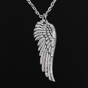 new fashion angel wings Pendants round cross chain short long Mens Womensintothea-intothea