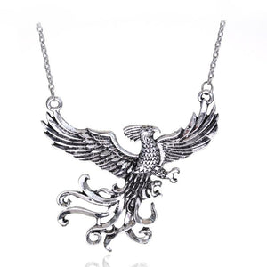 dongsheng Fashion Movie Jewelry Dumbledore's Pet Phoenix Fawkes Pendant Immortal Bird Phoenixintothea-intothea