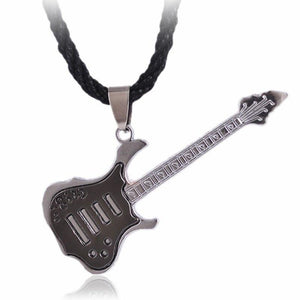 Stainless Steel Plating Rock Guitar Necklace Copper Titanium Stainless Steel Music Guitarintothea-intothea