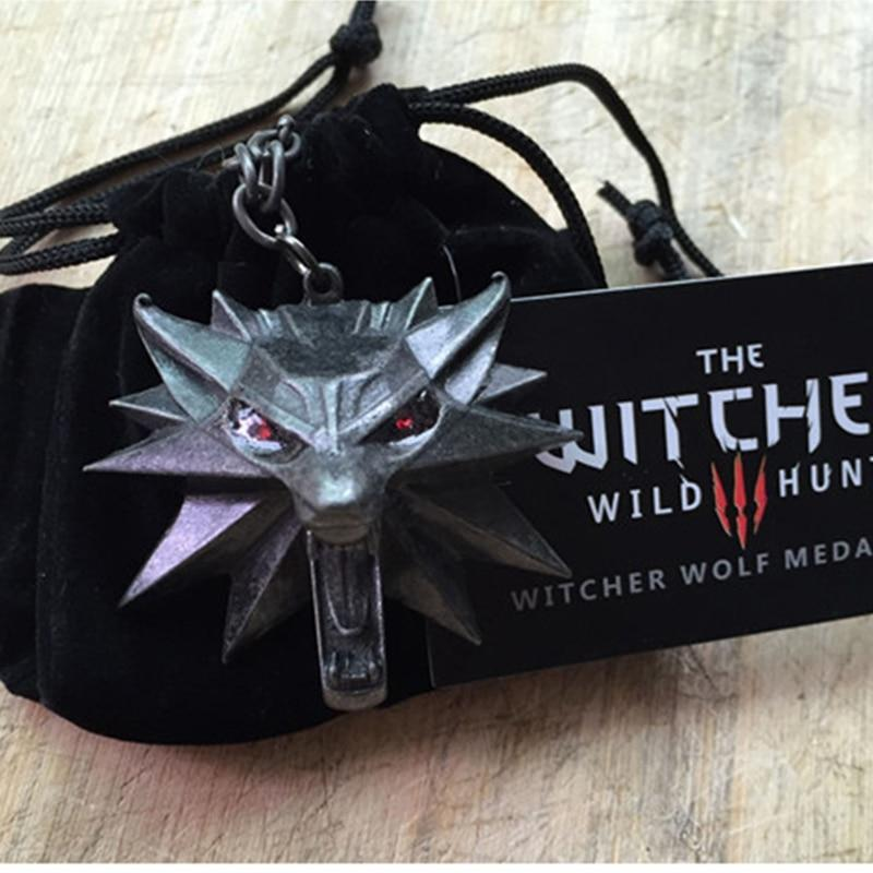 The Witcher 3 Pendant Necklace Animal Wolf Head Pendant Necklace Original Qualityintothea-intothea