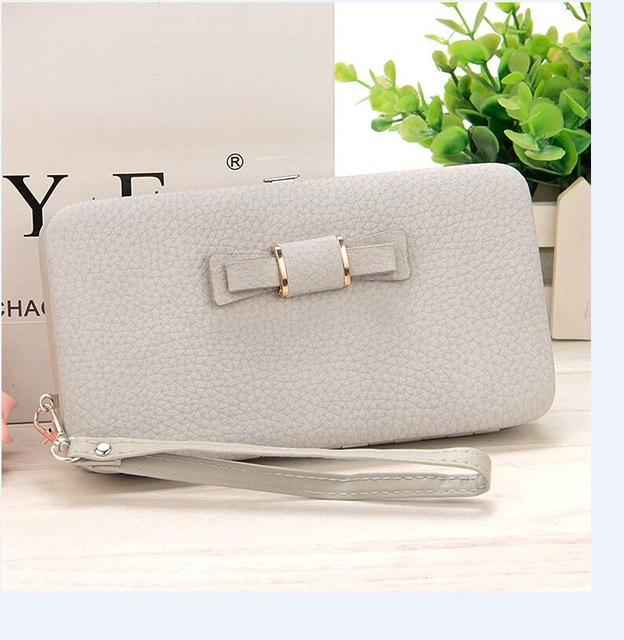10 colors Purse wallet female famous brand card holders cellphone pocket giftsintothea-intothea