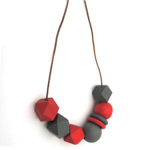 2018 newest red grey wooden geometric necklace fashion dangle lady party giftintothea-intothea