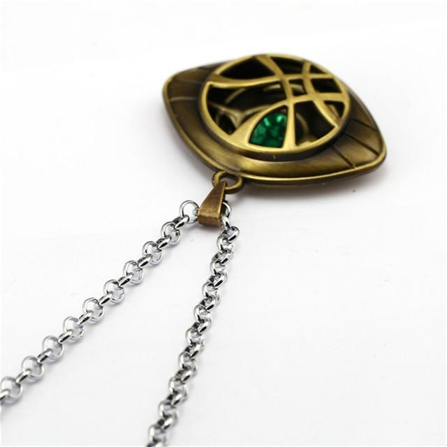 Avengers: Infinity War Doctor Strange Necklace Crystal Eye of Agamotto Pendant Fashionintothea-intothea