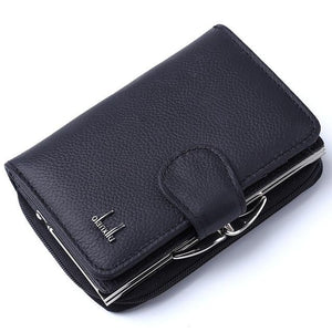 Hot Fashion Women Wallet Cow Genuine Leather Female Plaid Coin Purse Nubuckintothea-intothea