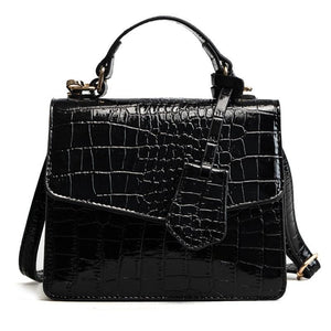 BARHEE New Alligator Flap Women Small Crossbody Bags European Fashion Crocodile Patentintothea-intothea