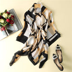 Brand Women's Hot Sale Silk Scarf Square Scarves Shawl Wrap Highintothea-intothea