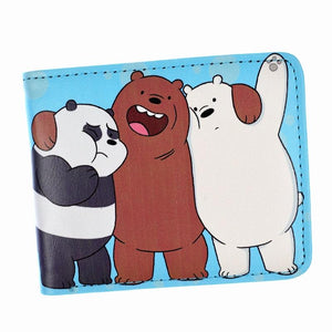 Anime Cartoon Wallet We Bare Bears Purse Cute Lovely Girl Walletsintothea-intothea