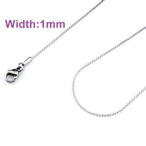 21871 Top Quality Rolo Link Chain Necklace Stainless Steel Chains Simple Silver/Balckintothea-intothea