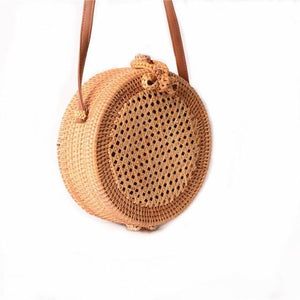 2018 New Round Straw Bag Handbags Women Summer Rattan Bag Handmade Wovenintothea-intothea