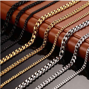 2018 Long Chain For Men Chain Necklace New Trendy Gold Color Stainlessintothea-intothea