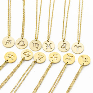 Zodiac Necklace Women's Constellation Necklaces Celestial Keepsake Jewelry Virgo Taurus Leo Geminiintothea-intothea