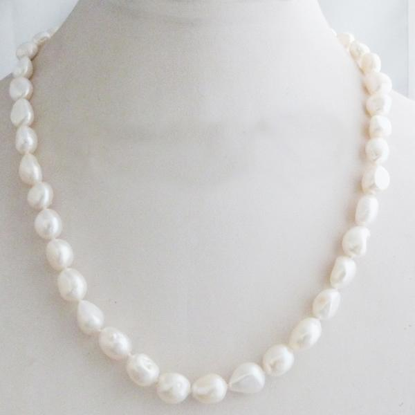 New Fashion Girl Cheap Price Natural Freshwater Pearl Necklace Colored Baroque Pinkintothea-intothea