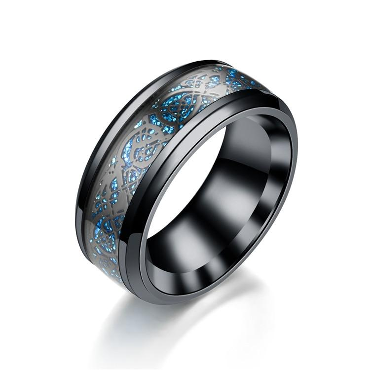 Dragon Ring Mens Women stainless steel Jewelry Wedding Band male ringsintothea-intothea