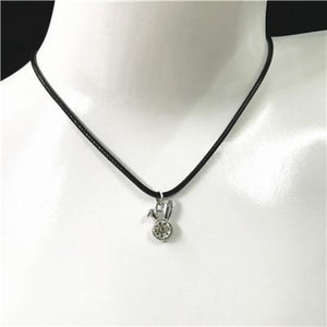 Hot Fashion Black Rope Choker Necklace Classic Alloy Pendant Necklace For Manintothea-intothea