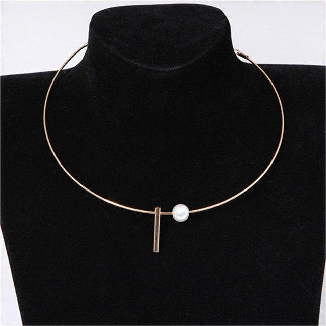 European and American Circle Bright Metal Collar Punk Women Choker Necklace Fashionintothea-intothea