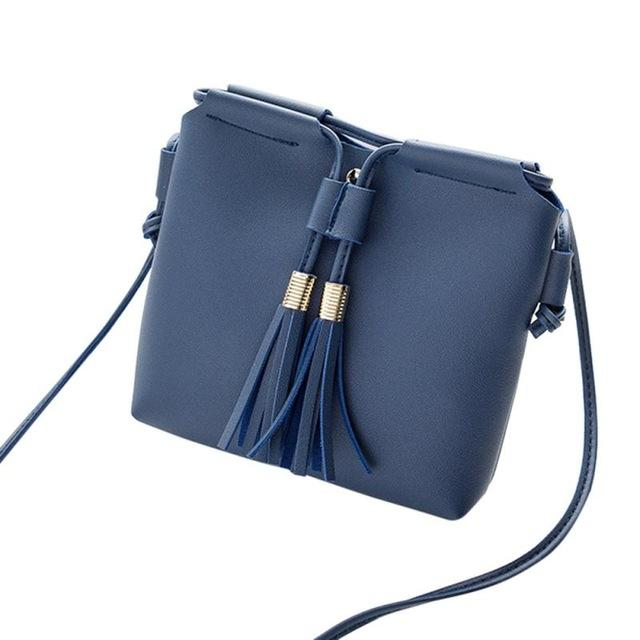 Fashion Womens Shoulder Bag Women Black Red Crossbody Leisure Faux Leather Tessalintothea-intothea