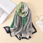 2018 Designer Fashion Scarf Luxury 100% Silk Scarf Women Scarves Shawl Highintothea-intothea