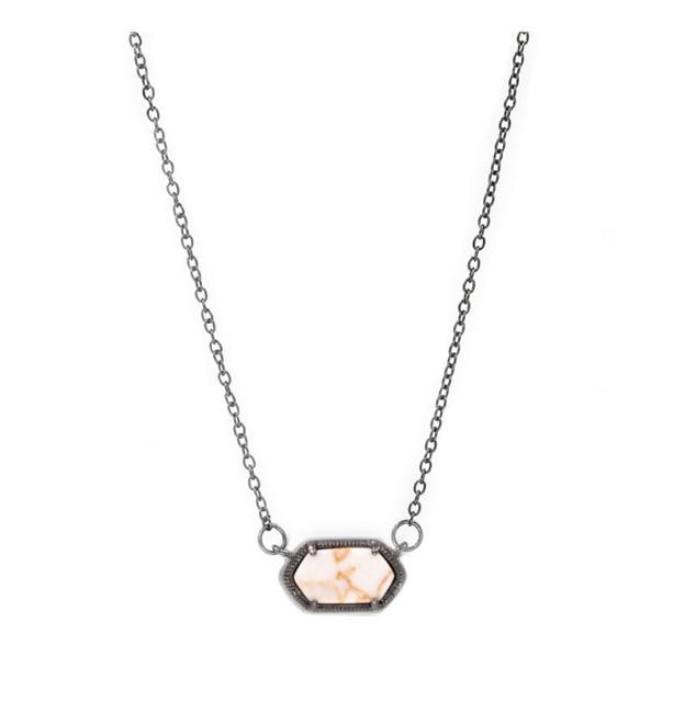 Small size Rose gold Oval Druzy Geometric Pendant Necklace for Womenintothea-intothea