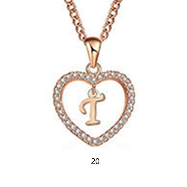 A To Z Letter Name Necklaces & Pendant For Women Girl Fashionintothea-intothea