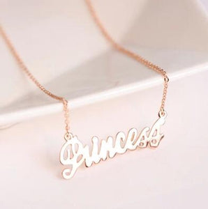 English alphabet princess clavicle short chain Necklace Fashion personality female jewelry intothea-intothea